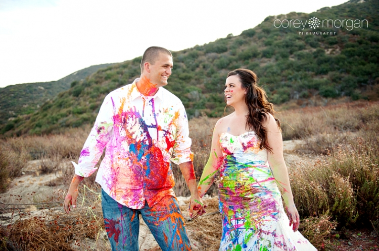 Trash The Dress With Paint Rachel Donovan Inland Empire Wedding Photography