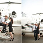 Mike + Sabrina – Guardian Jet Center Engagement Portraits, Ontario CA