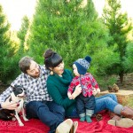 The Collins Family. Adorable at the tree farm. South Orange County Family Photographer