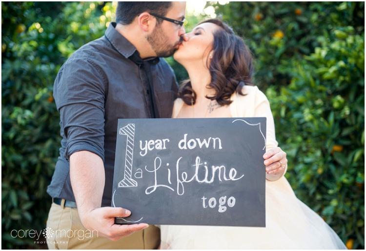 Riverside Orange Grove Wedding Inspiration One Year Anniversary Shoot