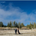 Big Bear Snowy Engagement Session. Christine + Mel. Big Bear Photographers
