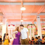 Colorful Arts District Engagement Session. Downtown Los Angeles Wedding Photographers